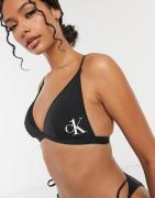 Calvin Klein - sort trekantet bikinitop med logo