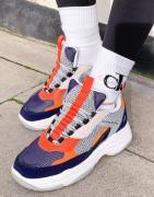 Calvin Klein Jeans - Maya - Sneakers i marineblå blanding-Multifarvet