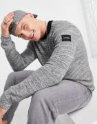 Calvin Klein - Ribstrikket trøje med rund hals i boucle-Grå