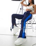 Polo Ralph Lauren Sports - Marineblå stribede joggingbukser med logo p...