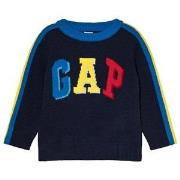 GAP True Indigo, Blue, Red and Yellow Branded Sweater 12-18 mdr