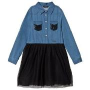 Guess Blue Denim and Mesh Dress 7 years