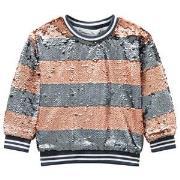 Molo Mabel Sweatshirt Silver/Blush Stripe 110 cm (4-5 år)