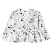Molo Risa T-Shirt Polar Bear Jersey 98 cm (2-3 år)