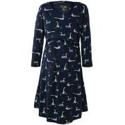 Frugi Navy Geese Twist Front Dress M