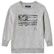 Ralph Lauren Grey Flag Knit Sweater 3 years