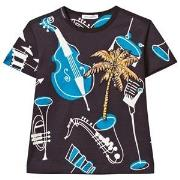Dolce & Gabbana Navy Instrument and Palm Print Tee 2 years