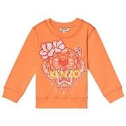 Kenzo Orange Flower Tiger Embroidered Sweatshirt 8 years