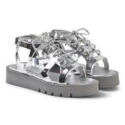 Stella McCartney Kids Silver Lasercut Star Sandals 28 (UK 10)