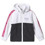 Calvin Klein Jeans White and Black Tape Logo Windbreaker 4 years