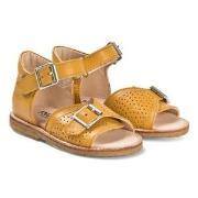 Angulus Yellow Leather Buckle Sandals 24 (UK 7)