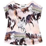 Molo T-shirt Riva Print Vilde Heste 92 cm (1,5-2 år)