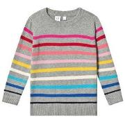 GAP Crazy Stripe Sweater Heather Grey XS (4-5 år)