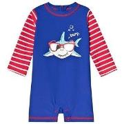 Hatley Cool Shark Rashguard One-Piece Blue 12-18 months