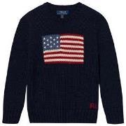 Ralph Lauren Flag Knit Sweater Navy 2 years