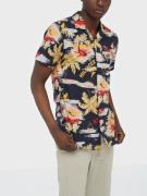 Tommy Hilfiger Hawaiian Print Shirt S/S Skjorter Desert
